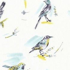 Dear Stella House Designer - Paloma - Poloma Birds in Mist. LOVE this entire collection