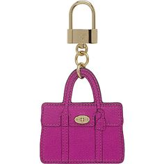 MULBERRY Bayswater leather bag charm (Mulberry pink) -NEED!! This is just like my fuchsia bays!