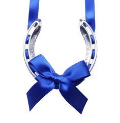 Royal Blue Lucky Horseshoe - wedding horseshoes, blue wedding accessories, blue wedding horseshoe, traditional lucky horseshoes, bridal horseshoes, lucky wedding gifts, horseshoe gifts, gifts for the bride