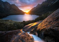Deliverence by William Patino  After looking at maps for months, I decided on this remote lake and surrounding mountains in the wilderness of New Zealand for a solo exhibition. Just a few hours before being dropped into the area by chopper, I had to make the tough decision to bring my pick