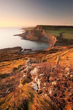 English coastline at Swanage