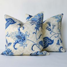 Decorative Pillow TWO 18 x 18 Iman Home fabric by Palaceorhut, $70.00