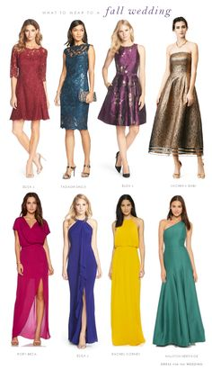 What to Wear to a Semi-Formal Fall Wedding | Wedding Guest Dresses ...