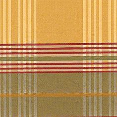 NICOLETTE PLAID, Gold and Red, F93344, Collection Fairfax from Thibaut