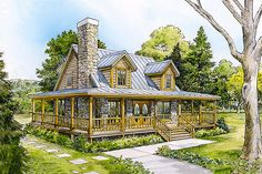 Country 3 Beds 2 Baths 1479 Sq/Ft Plan #140-121 Front Elevation - Houseplans.com
