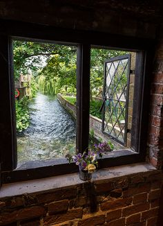 view from the city mill in winchester, hampshire, england by allan harris.