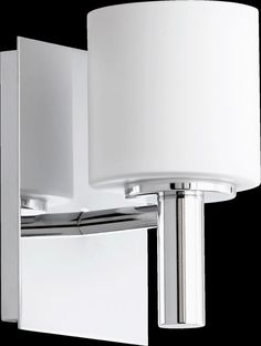 View the Quorum International 5668-1 1 Light Bathroom Sconce with Frosted Glass Cylinder Shade at LightingDirect.com.
