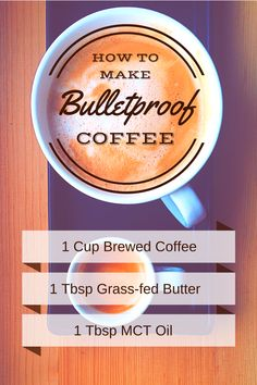 Simple, but powerful Bulletproof Coffee is the best way to start your morning! #butter #health #fat