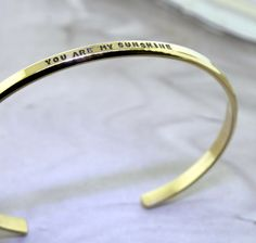 You Are My Sunshine  gold filled cuff bracelet by KathrynRiechert, $70.00