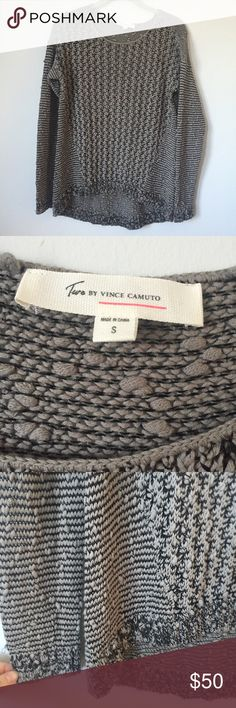 Two by Vince Camuto Bubble Stitch Sweater Two by Vince Camuto grey bubble stitch sweater. So soft and comfortable, great for layering over a button down. Easy to dress up or down. Crew neck style, great condition. I'll take reasonable offers! Two by Vince Camuto Sweaters Crew & Scoop Necks