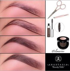 How To: Fill in Eyebrows with Eyeshadow and Pencil (2) ~ #AllThingsTanning #Beauty #Makeup #Eyebrows