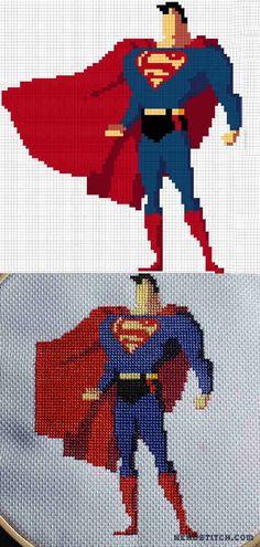 Superman Cross Stitch Pattern