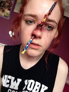 pencil through my nose special effects makeup pencil ben nye nosescar wax liquid latex ben nye - Halloween Effects Makeup