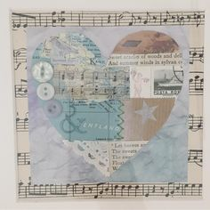 "21 Likes, 4 Comments - sᎾfᎥᎪ shᎬᎪᏒᏒᎥᏁᎶ (@fishearring) on Instagram: ""Heart collage for someone special maps, buttons, bits& bobs #vintagepapers #vintagemusicsheet…"""