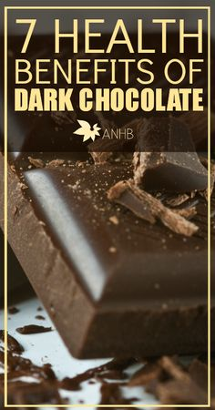 7 Health Benefits of Dark Chocolate. Sweet! (Like I needed another reason to eat it. lol)