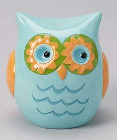 Take a look at this Blue & Yellow Owl Bank by GANZ on #zulily today!...pinned jyst for Krista :)
