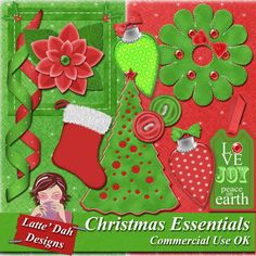 Christmas Essentials  Digital Scrapbooking Kit by Latte Dah Designs