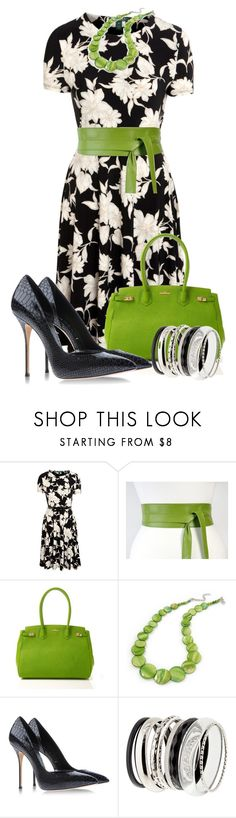 """Pops of Color"" by justbeccuz ❤ liked on Polyvore featuring Lauren Ralph Lauren, Henri Bendel, Casadei and H&M"