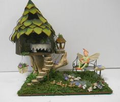 Fairy House for OOAK or Other Collectible Fairy, Art Doll, Miniatures, Doll Hous