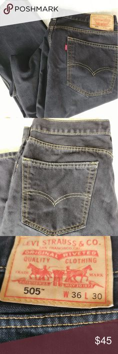 LEVI STRAUSS & CO. MEN BLACK DENIM JEANS NEW NEVER USED  TAGS ARE GONE  LEVI STRAUSS, 505  WAIST 36  LEAD 32  STRAIGHT FIT, CORTE RECTO  39 POLYESTER  61 COTTON  LEVI'S   505   BLACK DENIM,  NEW, never used, tags are gone  LEVI STRAUSS   505   New STRAIGHT LEG 5 POCKET MEN JEANS IN BLACK DENIM.  new no tags Levi's Jeans Straight