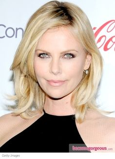 charlize-theron-shoulder-length-hairstyle. I like this style