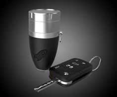 The Rocket Grinder is a multi-functional key chain that works as a grinder, storage, funnel and one-hitter for all of your cannabis needs