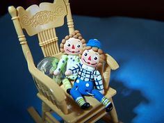 Raggedy Ann and Andy miniatures