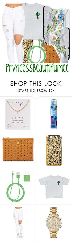 """"" by prvncessbeautifulmee on Polyvore featuring Dogeared, MCM, Marc by Marc Jacobs, PhunkeeTree, Michael Kors and NIKE"