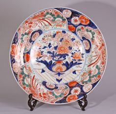 Extremely large Japanese Imari charger., ca. 1700 - Antiques   ArtListings