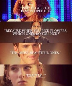 These are my favs from the hunger games and they all died :(