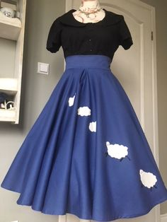 SHE IS ME - Skirt with Sheeps