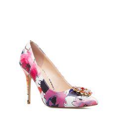 Adorable Floral Patterned Heels
