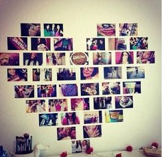 Heart Picture Collage For Your Room !