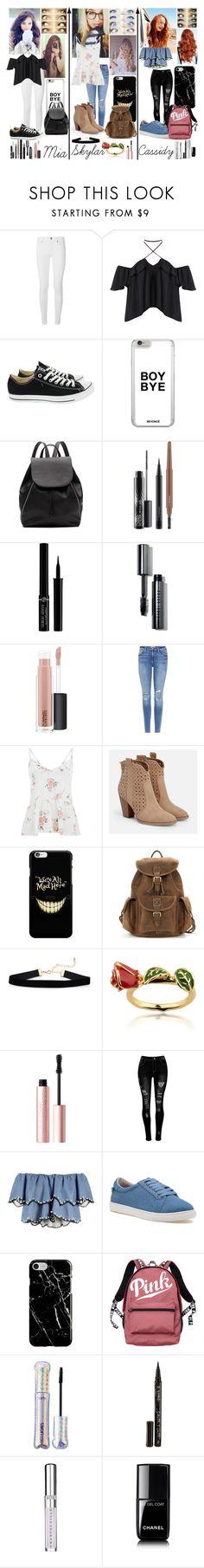 """""""Please, don't ever grow up (Highschool)"""" by frootloop16 ❤ liked on Polyvore featuring Burberry, Converse, Witchery, MAC Cosmetics, Giorgio Armani, Bobbi Brown Cosmetics, Frame, JustFab, Disney and Too Faced Cosmetics"""