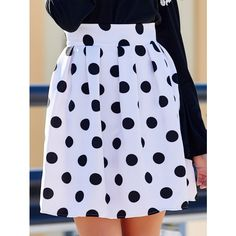 Sweet High Waisted Polka Dot Ruffled Women s Skirt (37 BAM) ❤ liked on Polyvore featuring skirts, frilly skirt, high-waisted skirts, high-waist skirt, high waisted ruffle skirt and dot skirt