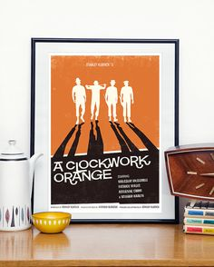 Clockwork orange Poster, movie poster, Stanley Kubrick  modernist retro style A3
