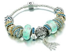 this aquamarine #chamilia bracelet is absolutely gorgeous! #charms