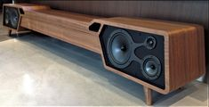 For Mid-Century Modern Fans, the Most Beautiful Furniture with Built-in Speakers - CE Pro Vintage Furniture, Diy Furniture, Modern Furniture, Furniture Design, Rustic Furniture, Bedroom Furniture, Home Design, Interior Design, Design Art