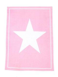 La Finesse - Geschirrtuch  - rosa mit Stern