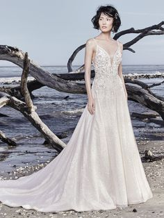 Sottero and Midgley - CHAD, We have several venues in mind for this dazzling A-line wedding gown, which include: a disco club restored to full glory, an industrial-chic rooftop, a boho ballroom, and an ice palace.