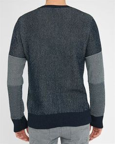 Pull Col Rond Bleu Marine Rayures Manches Dag NUDIE JEANS