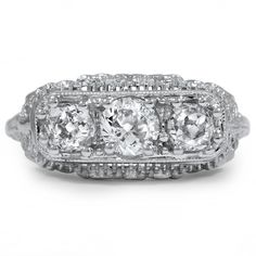 18K White Gold The Hollace Ring from Brilliant Earth
