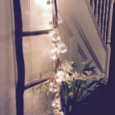 Draping LED lightbulb garland from fairyDusk