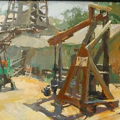"""durre waseem's Instagram profile post: """"Happy to announce that these two among my pleinair favorites: The trestle Shadows 11x14, and Bakersfield's Rig 12x16 are accepted into the…"""" Yosemite National Park, National Parks, Carmel Beach, Urban Painting, Carmel Color, Santa Barbara County, San Juan Capistrano, California Art, Art Club"""