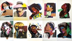 artnet Galleries: Ladies and Gentlemen FS.II.128-137 by Andy Warhol from Gallart.com