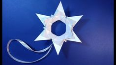 Easy Origami star. Christmas star with paper. Ideas for Christmas decora...