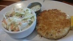 Crab Cake entrée from The Boathouse in Downtown Disney (Disney Springs). Yum!