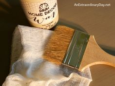 Folk Art Sheepskin Chalk Paint with a lightened version of