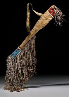 fringed and beaded leather rifle scabbard   Crow rifle scabbard, beaded hide with twisted fringe; image credit on ...