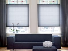 Duette top-down, bottom-up blinds for greater control over light and privacy. Autumn home inspiration. Keep warmth in with blinds. Cosy homes. Farmhouse Homes, Rustic Farmhouse, Japanese Blinds, Honeycomb Shades, Living Room Blinds, Interior Design Advice, Interior Inspiration, Japanese Interior, Window Styles